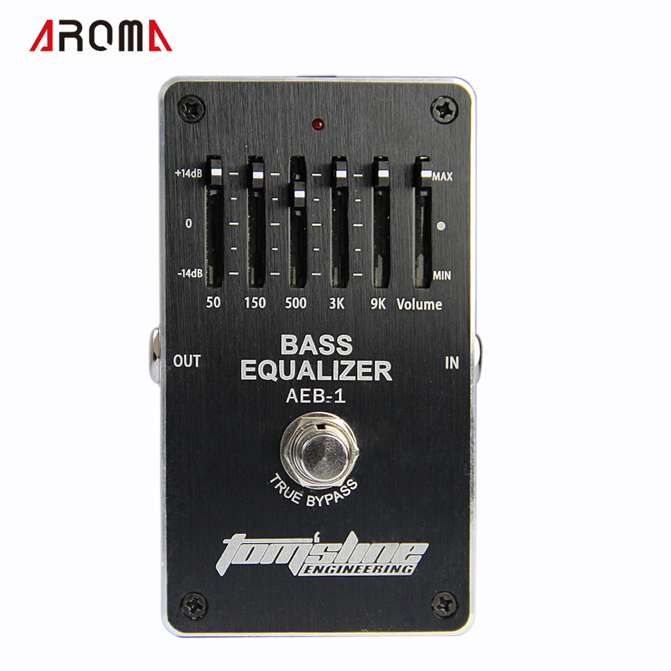 Aroma AEB-1 Bass 5-band EQ Exclusive for electric bass new guitar effects<br>