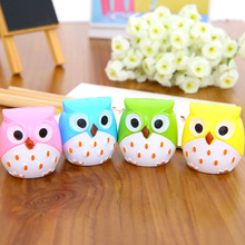 1 PCS Creative Kawaii Owl Double Hole Pencil Sharpener Cutter Knife Promotional Gift Stationery Student Prize School Supplies