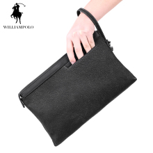 2017 Men Business High Capacity Clutch Bag Male vintage Genuine Leather Wallets Interior Slot Pocket iPad Holder Zipper Purses