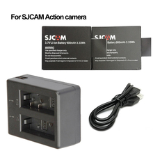 2x sj4000 battery + sj5000 Dual USB charger for original SJCAM sj5000x sj5000+ sj7000 wifi sj8000 sj9000 M10 cameras