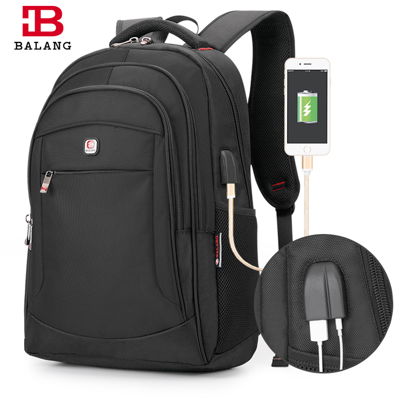 BALANG Brand Casual Unisex Backpack Multifunction USB Charging for Men Backpacks 15.6 Laptop Teenager Bagpack Students Bags<br>