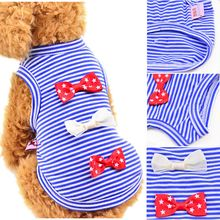 Dog Vests Pet Dog Clothes Spring Summer Thin Section Teddy Bears Dog VIP Clothing Pet Supplies Star Bow Vest