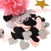 100pcs/pack Paper Confetti ,3cm Round/Star/Heart Birthday Decor Baby Shower Cake Topper Table Decoration Even Party Supplies