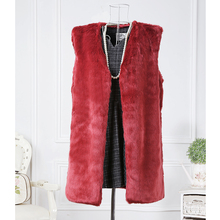 vest mink coat winter autumn waistcoat  long hair collar smooth  fox mink fur coat 2016 new arrival