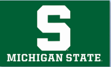 MSU Spartan Basketball Flag 3x5ft by polyester with metal Grommets