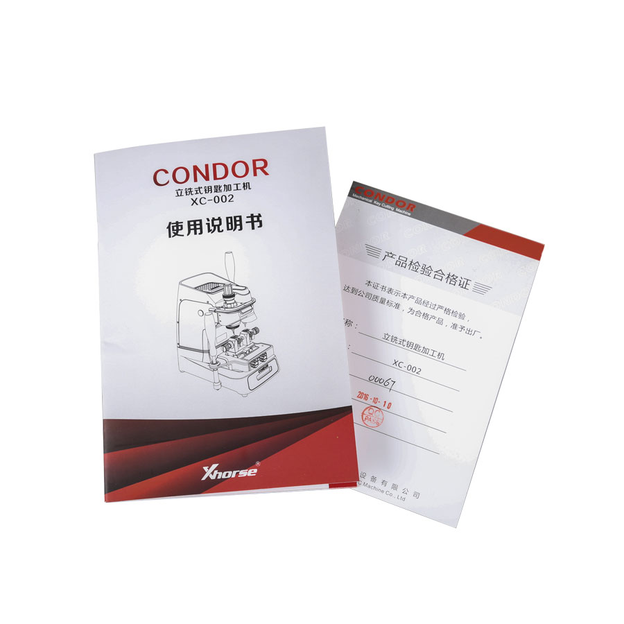 New Released Original Xhorse Condor XC-002 Ikeycutter Mechanical Key Cutting Machine Three Years Warranty (12)