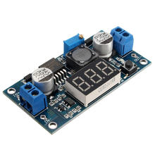 New Electric Unit LED LCD DC-DC Booster Step-up Module Power Supply Voltmeter module 3-34V To 4-35V LM2577(China)