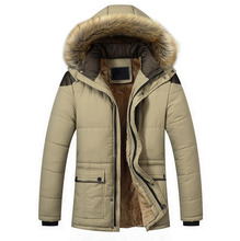 New Men parka Winter jacket Fur Collar Casual Thicken Cotton-padded Coat High quality Warm Coat Abrigos Hombres