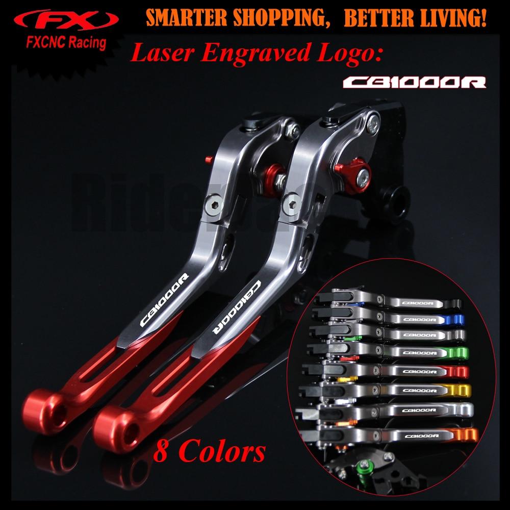 New Red+Titanium CNC Motorcycle Adjustable Brake Clutch Lever For Honda CB1000R CB 1000R CB1000 R 2008-2016 2012 2013 2014 2015<br>