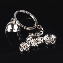 Fashion 3D Metal Model Car Motorcycle Helmet Keychain Key Chains Mini Motorcycle Pendant Keyring Men Motor Accessories(China)