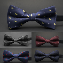 GUSLESON NEW Dot Bow Tie Wedding Bowtie Noeud Papillon Boys & Girls Polyester Silk Pajaritas Cravat Bowties Female Male Neckwear