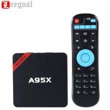 NEXBOX A95X Smart TV Box Android 6.0 Amlogic S905X Quad-Core 64 Bit XBMC 4K 1G+8G Mini PC WiFi LAN DLNA Miracast HD Media Player