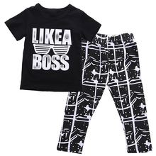 2017 New Infant Kids Baby Clothes Sets Summer Toddler Baby Boy O-Neck Tops Short Sleeve Long Pants 2pcs Outfits Tacksuit(China)