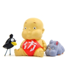 3pcs/lot Anime Movie Miyazaki Hayao Spirited away PVC resin Action Figure Toys cartoon Animal fat baby Collection Model Toy gift