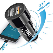 Buy IBD Cellphone Car Charger usb 3.0 Quick Charge 30W 2 USB Ports Power Adapter Phone Charger Android qualcomm 3.0 mobile charger for $1.19 in AliExpress store