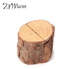 Fashion 10PCS Vintage Wooden Place Memo Clip Wedding Photo Name Card Table Number Desk Holder Decor Wood Craft