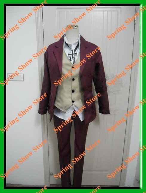 K Fushimi Saruhiko/Yata Misaki School Uniform Cosplay Costume Brown Suit Custom Made
