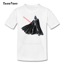 JEDI Star Wars T Shirt Kids Pure Cotton Short Sleeve O Neck Tshirt children's Clothing 2017 Funny T-shirt For Boys Girls Infant(China)