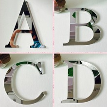 2017 Acrylic EVA wedding sticker love letters Home decoration English 3D mirror wall Stickers Alphabet LOGO(China)