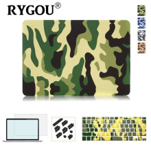 RYGOU Camouflage Pattern Ultra Slim Light Weight Hard Case Cover for Apple MacBook Air 13 Pro Retina 13 15 inch Laptop Bag cases