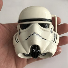 Retail Hot Movie White Star Wars Stormtrooper Helmet metal belt buckle For 4cm wide belt fashion Men Women Jeans accessories