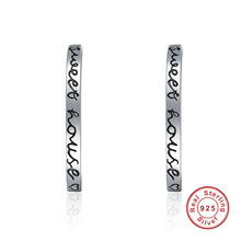 925 Sterling Silver Sweet House Punk Stud Earrings Women Fashion Fashion Earrings Silver Fashion Jewellery(China)
