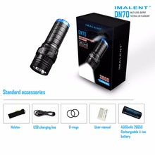 Rechargeable Flashlight IMALENT DN70 max. 3800 Lumen beam throw 325 meter tactical torch OLED display with 26650 4500mAh battery(China)