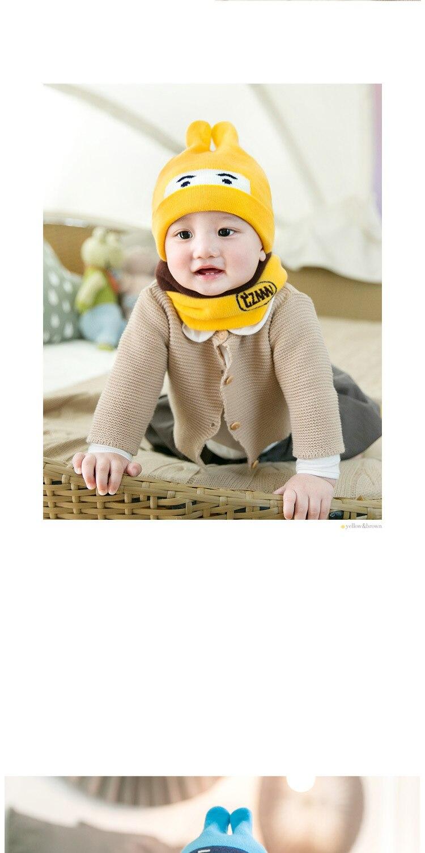 6-24 Month New Cute Rabbit Baby Boys Girls Knitting Hat Bib Sets  Children Hats Beanies Sets Newborn Caps Sets  Kids Accessories