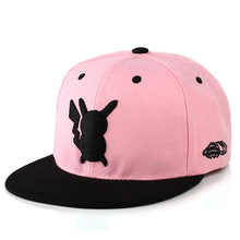 New Adjustable Pokemon Hats Ash Ketchum Pikachu Baseball Caps Women Men Hip Hop Snapback Peaked Flat Fashion Hats