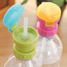 NEW Portable Spill Proof Juice Soda Water Bottle Twist Cover Cap With straw Safe Drink Straw Sippy Cap Feeding for Kids