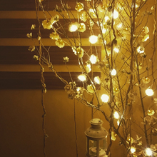 New Party Supplies Decorative 20-LED Beige Flower String Light Party Strip Lamp Christmas Decor Warm White DIY Home Decoration(China)