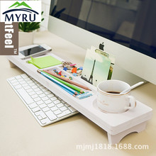 Creative multifunction desktop phone keyboard office desktop keyboard shelf aircraft to receive(China)