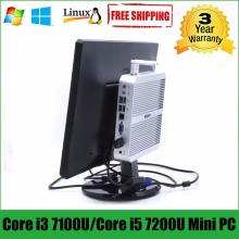 Intel Core i5 7200U minipc i3 7100U HYSTOU Kaby Lake Fanless Mini PC Windows Intel HD Graphics 620 Mini Computer Barebone i5 pc(China)
