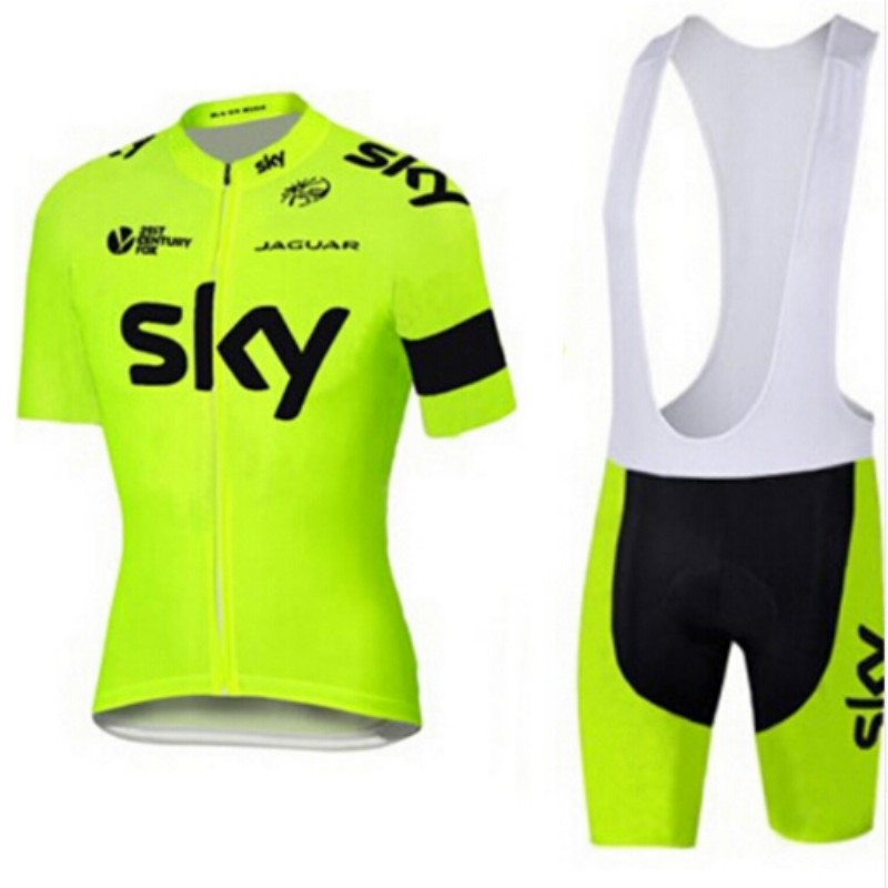 2017 fluorescent green sky cycling jersey team with loop clothes quick dry gel pad cycling wear chinese-style chest covering<br><br>Aliexpress