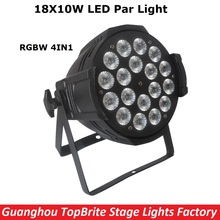 New Arrival 18X10W RGBW 4IN1 Led Stage Lights High Quality LED Par Can With DMX512 8 Channels For Stage Dj Disco Laser Lights(China)