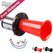 Free Shipping 12v Loud Classic Chrome Air Horn for Car Van Truck Train RV AUTO Boat Alarm Horn