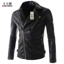 Buy Biker Jacket Men Leather Jackets Coats Long Sleeve Zipper Jaqueta De Couro Masculina Men Biker Jacket Chaqueta Motera Hombre for $45.99 in AliExpress store