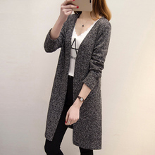 Women Long Sweater Cardigans Casual Spring Autumn Large Size Sweaters Long Coat Plus Size XL-5XL Loose Slim Cardigans Femme Coat