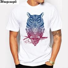 Wangcangli Brand Cotton Print Color T Shirt New 2017 Summer Man T-shirt Fashion Short sleeved casual real madrid  funny t shirt