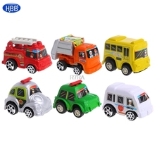 Car Toys Car Baby Mini Cars Cartoon Pull Back Bus Truck Children Boy Gifts 6Pcs-TwFi(China)