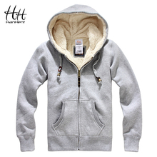 HanHent Sheep Velvet Thickened Men Winter Coats Thick Wool Warm Hoodie Sweatshirts 2017 New Fashion Men Clothing Cashmere AG0015(China)