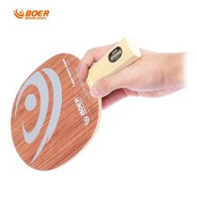 BOER High-end Ping Pong Racket Pure Wood Light Tip Heavy HandleTable Tennis Paddle Bat with Rosewood Base