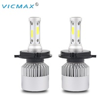 VICMAX S2 Car LED Headlight Kit H4 H7 H11 9004 HB3 9007 HB4 H1 9012 H13 COB LED Head Lamp Single High Low Beam Bulb LED H 7 11