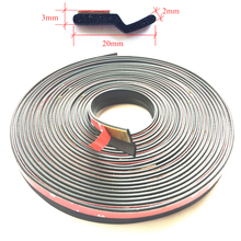 Z type adhesive car rubber seal Sound Insulation car door sealing strip weatherstrip edge trim noise insulation(China)