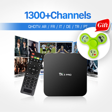 STB HD Android TV Box Smart TX3 PRO Receiver 1G+8G with IPTV Channels Europe QHDTV account 1 year Arabic French Iptv Set Top Box