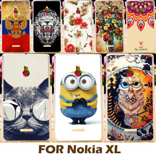 Phone Case For Nokia XL Dual SIM RM-1030 / RM-1042 5.0 inch Cell Phone Shell Cover Protective Painting design Hard Plastic Coque