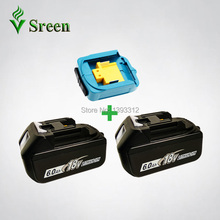 2PCS 18V 6000mAh BL1860 Replacement for Makita 18V BL1850 BL1830 BL1840 LXT Rechargeable Li-Ion Power Tool Battery & USB Charger(China)