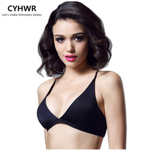 CYHWR Lace Bra Wire Free Brassiere See Through Bralette Fashion Crop Top Bra Sexy Bust Bodice(China)