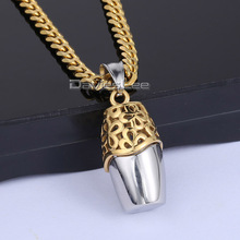 Carve Flower Vase Pendant Mens Boys Womens Girls 316L Stainless Steel Pendant Necklace DLHP316 DLHP317(China)
