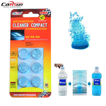 Carsun 6Pcs/Pack Brand New Solid Windshield Wiper Fluid Super Concentration Auto Car Window Glass Cleaning Wiper Water